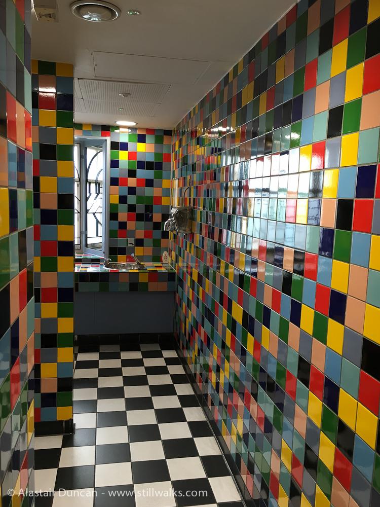 colourful toilets