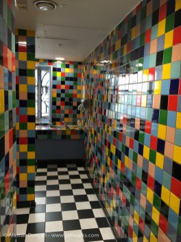 colourful toilets