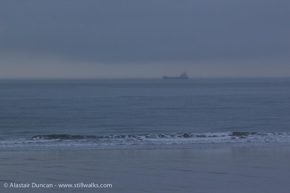 lifting mist seascape