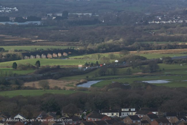 hilltop view of 11 arched bridge