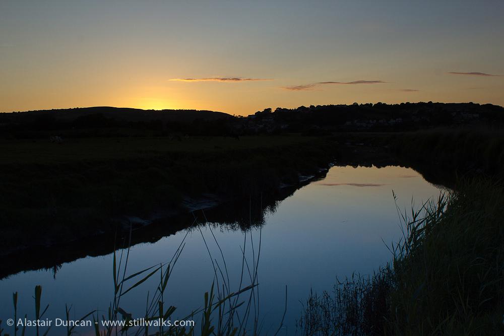 River Loughor sunset