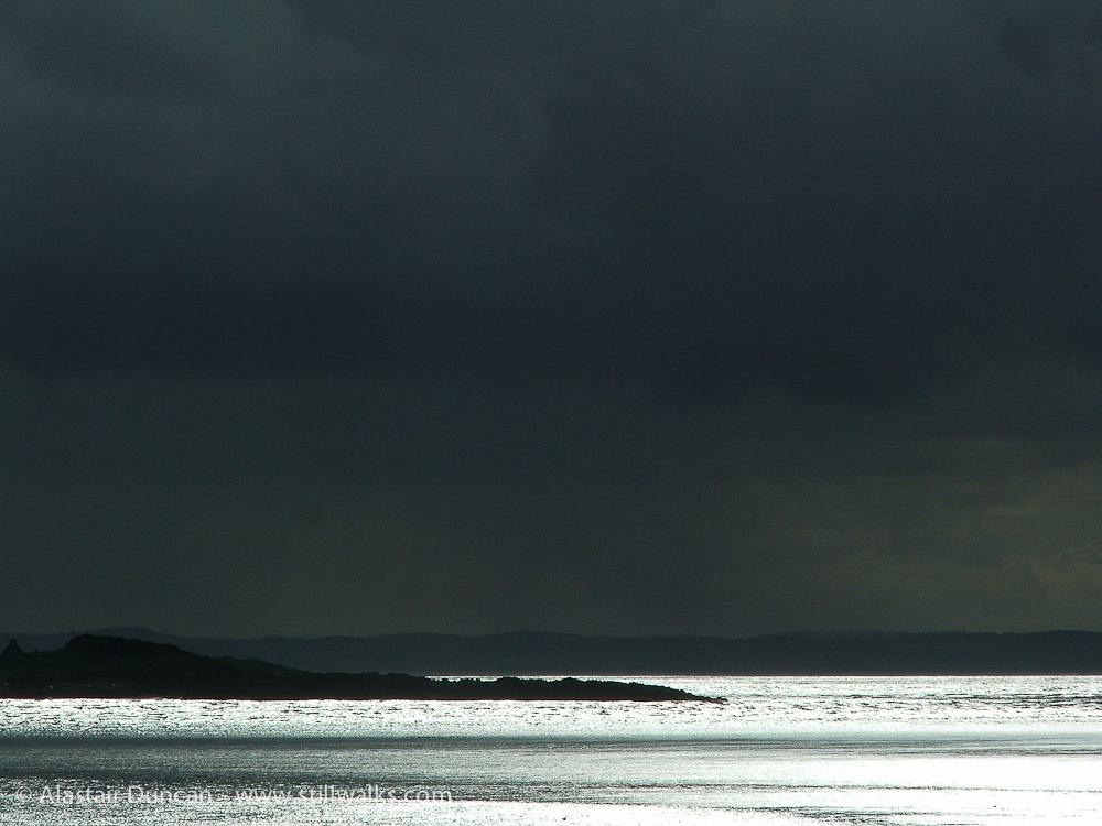 Dark sky seascape