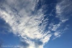 blue sky cloudscape