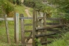 Cliff path kissing gate