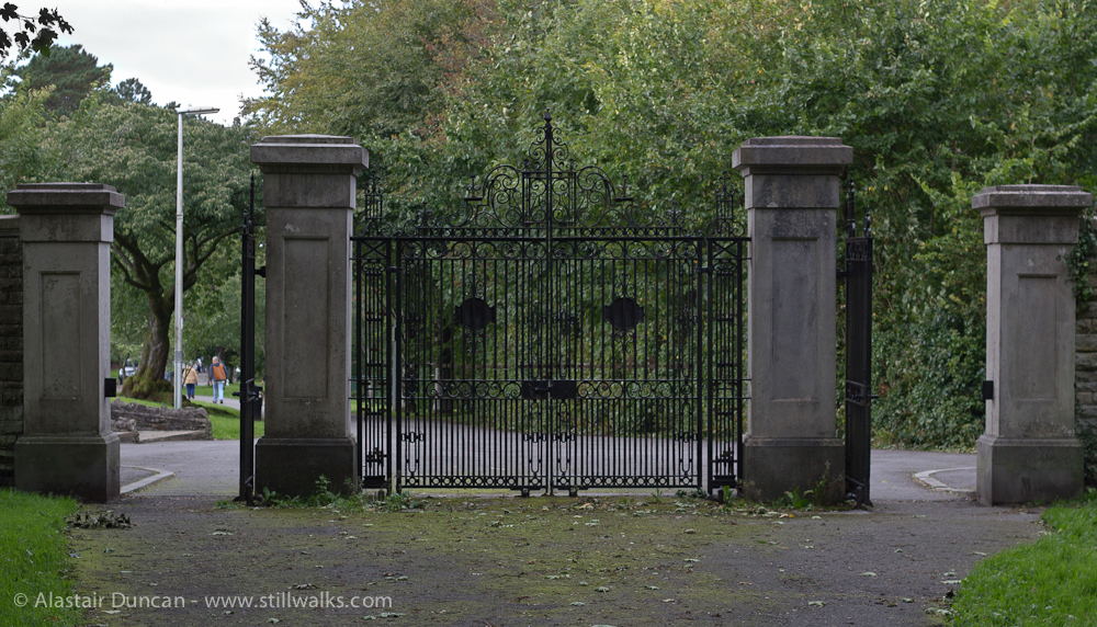 Gnoll Country Park gates