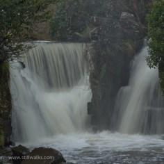 Autumn woodland waterfall
