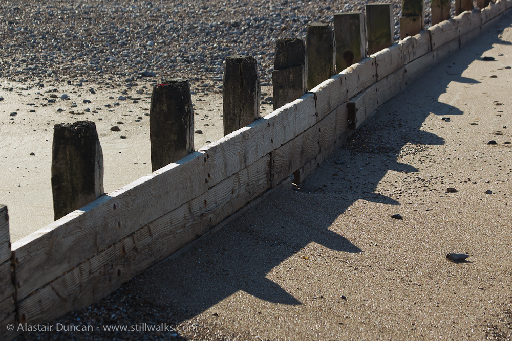 Groyne shadow pattern