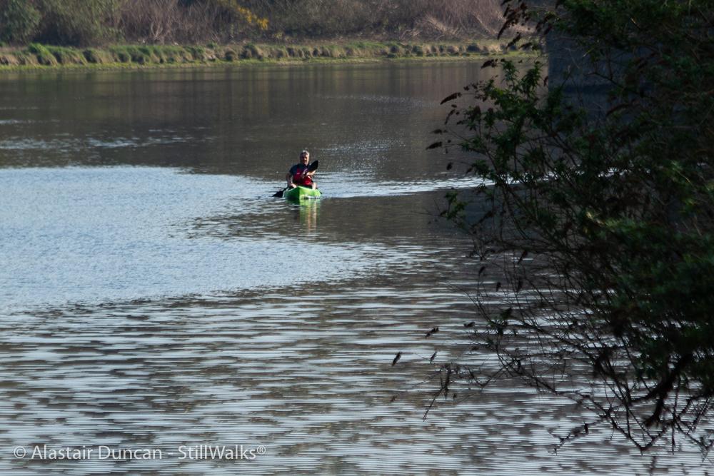 paddling in the Tawe