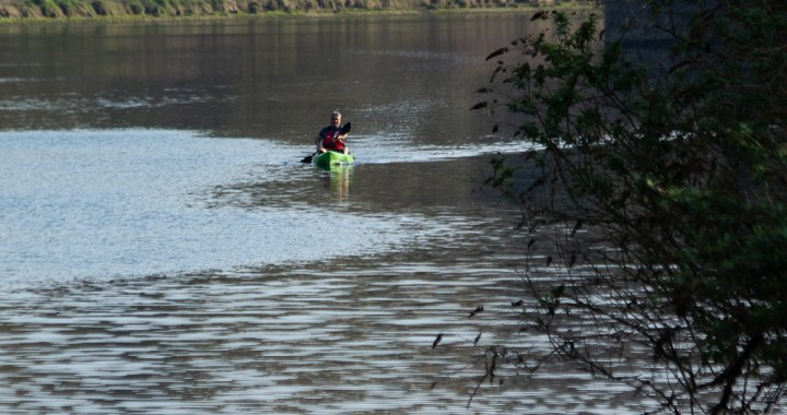 paddling in the Tawe