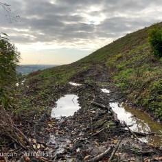 bare hillside