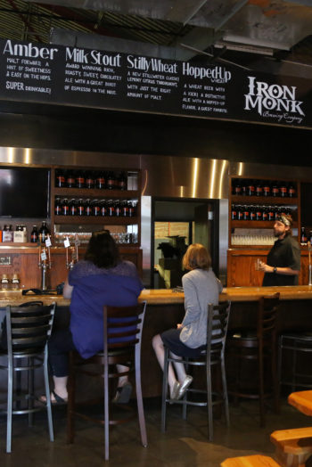 The tap room at Iron Monk