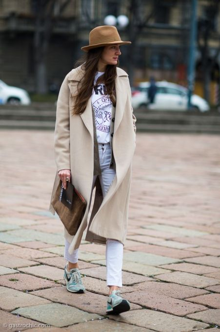 Oversize Coat and Sneakers, Outside Roberto Cavalli