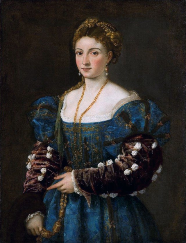 La bella *oil on canvas *100 × 75 cm *ca 1536