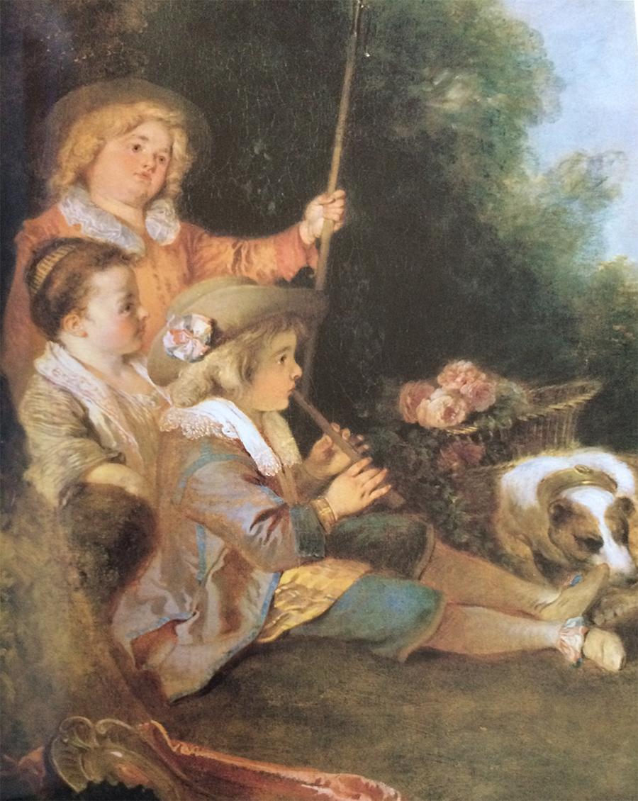 Watteau, Boy Playing Flute