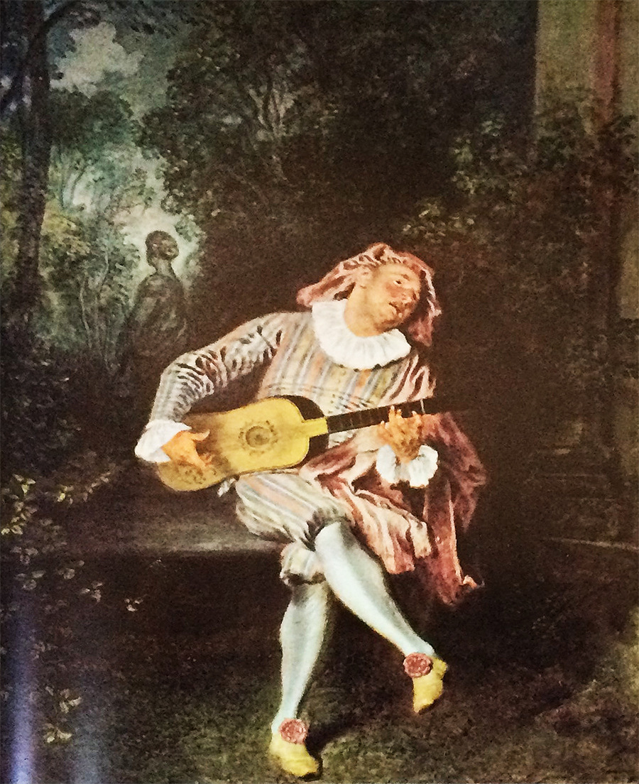 Watteau, Lute Player painting 2