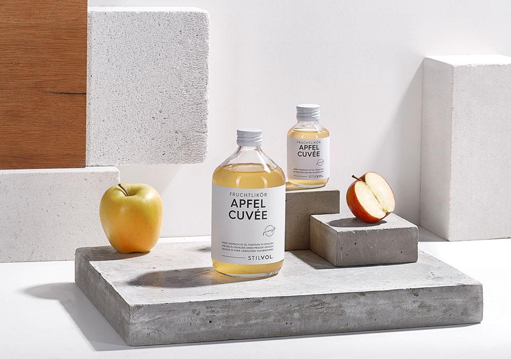 Naturtrüber Apfel Cuvée Fruchtlikör von STILVOL. Spirituosen