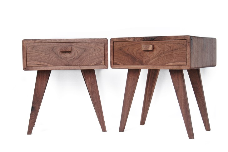 Matching Side Tables in Black Walnut