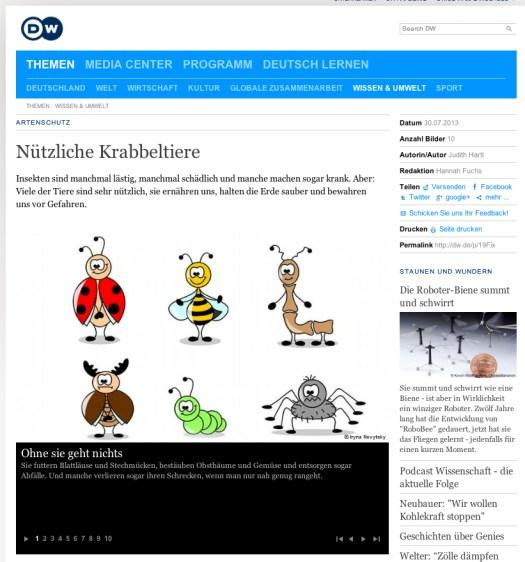 Nützliche Krabbeltiere - DW l Wissenschaft
