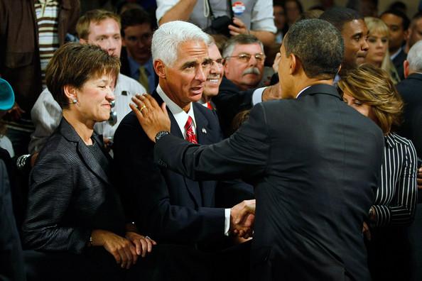 President Obama & Charlie Crist in Ft. Myers
