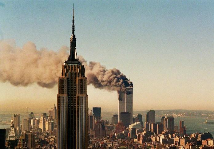 world trade center burning september 11