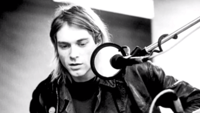 "Kurt Cobain at Sound City during the recording of ""Nevermind."""