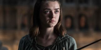 "Arya Stark holding Needle in Season 6 Episode 8, ""No One."""