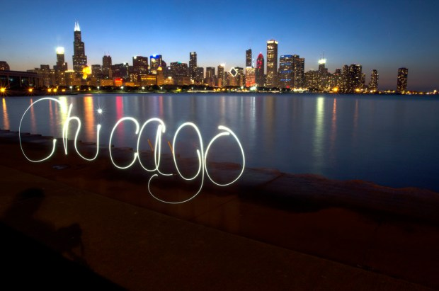 Chicago Light Painting