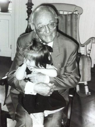 Farfar och vår dotter