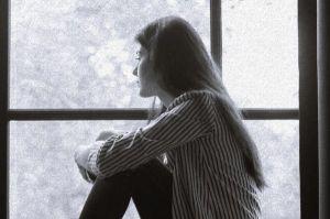 alone in a window