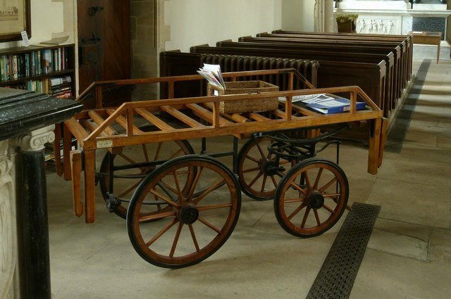 Example of a funeral bier