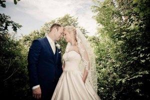 Bryllupsbilleder i den mere moderne stil