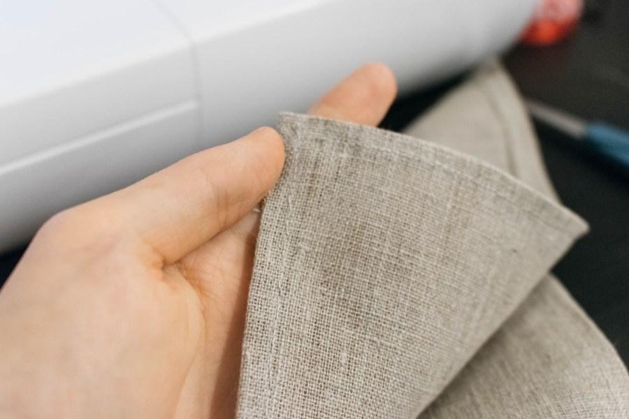 En rask, og enkel, DIY for å lage servietter i lin