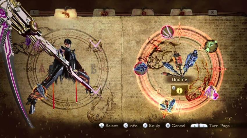 Bayonetta 2 Weapon Switching
