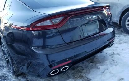 kia stinger rear hatch trunk badge