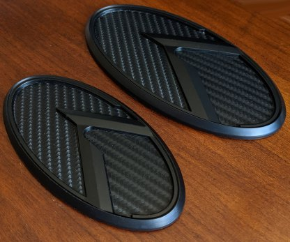 carbon black badges for kia stinger