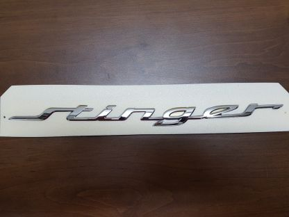 kia stinger trunk hatch script badge emblem
