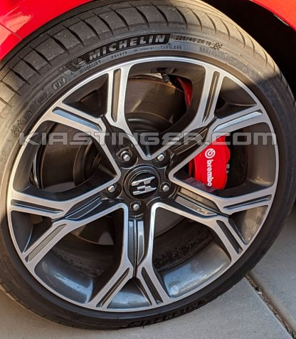 18 inch wheel cap on 19 inch stinger wheel