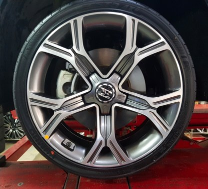 kia stinger large e wheel center cap
