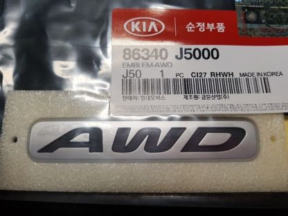 kia stinger oem awd all wheel drive badge emblem
