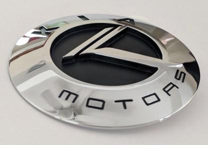 chrome vintage kia motors badge 3d