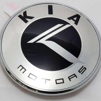 round chrome kia motors badge emblem