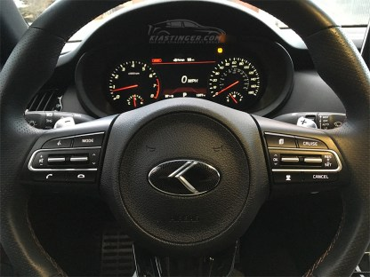 loden steering wheel emblem on kia stinger