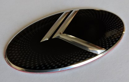 steering wheel emblem side
