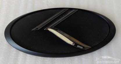 black chrome with matte black edge vintage k badge
