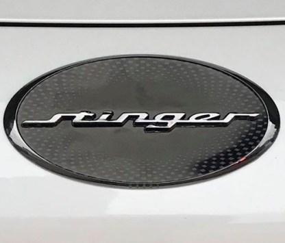 oval stinger hood badge emblem