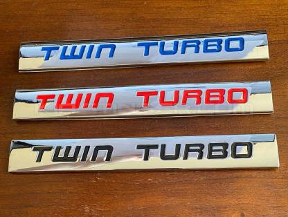 twin turbo badges