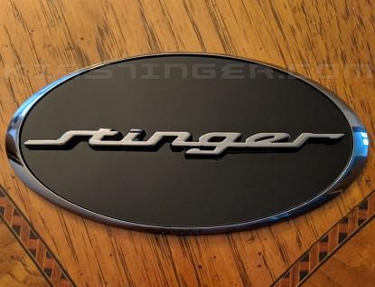 oval stinger badge emblem for kia stinger