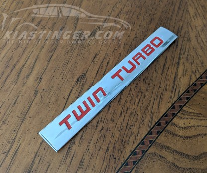 kia stinger twin turbo badge