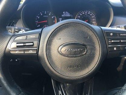 kia stinger steering wheel badge