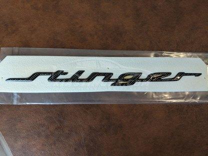 kia stinger carbon fiber rear hatch emblem